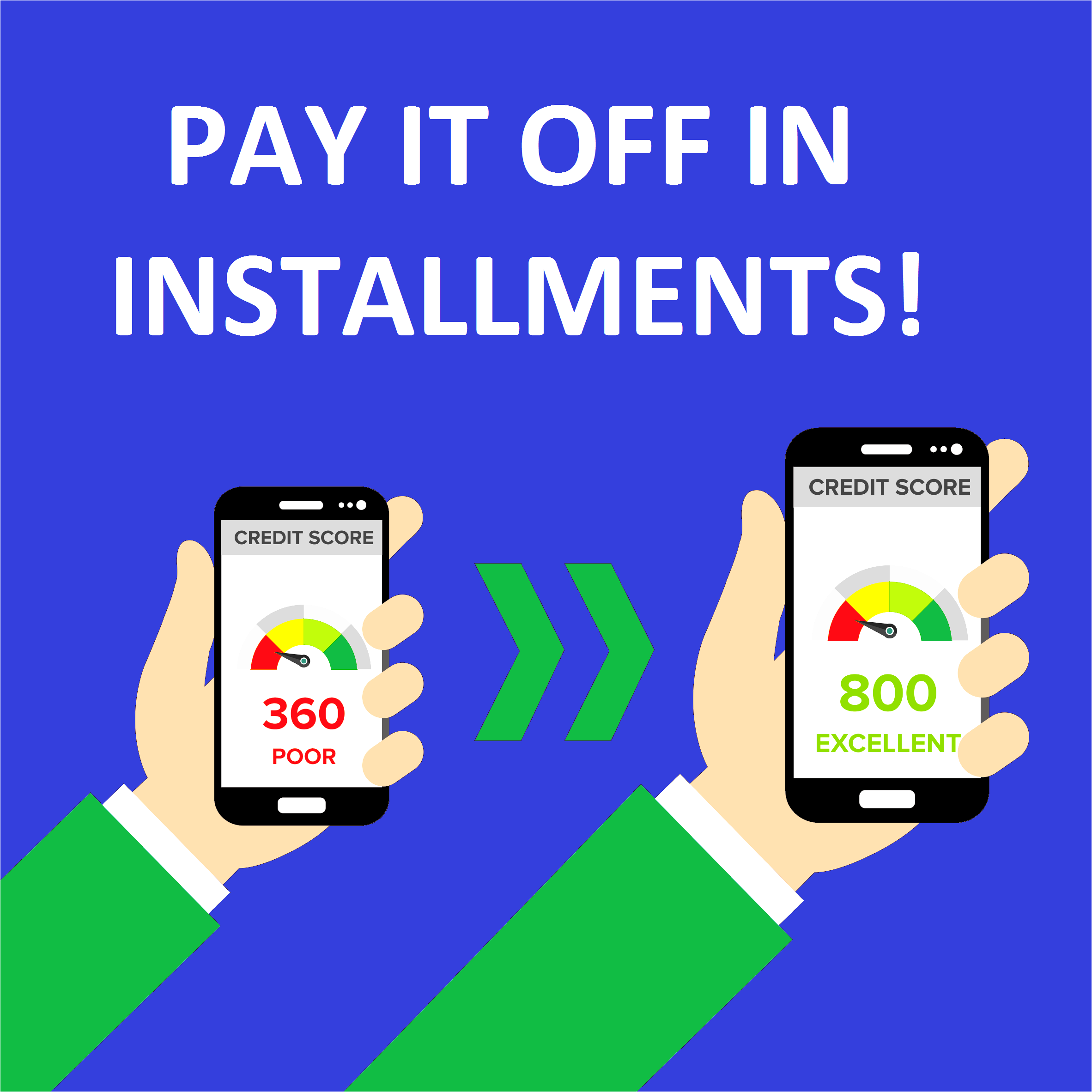 Pay It Off In Installments!