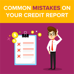 Common Mistakes on Your Credit Report
