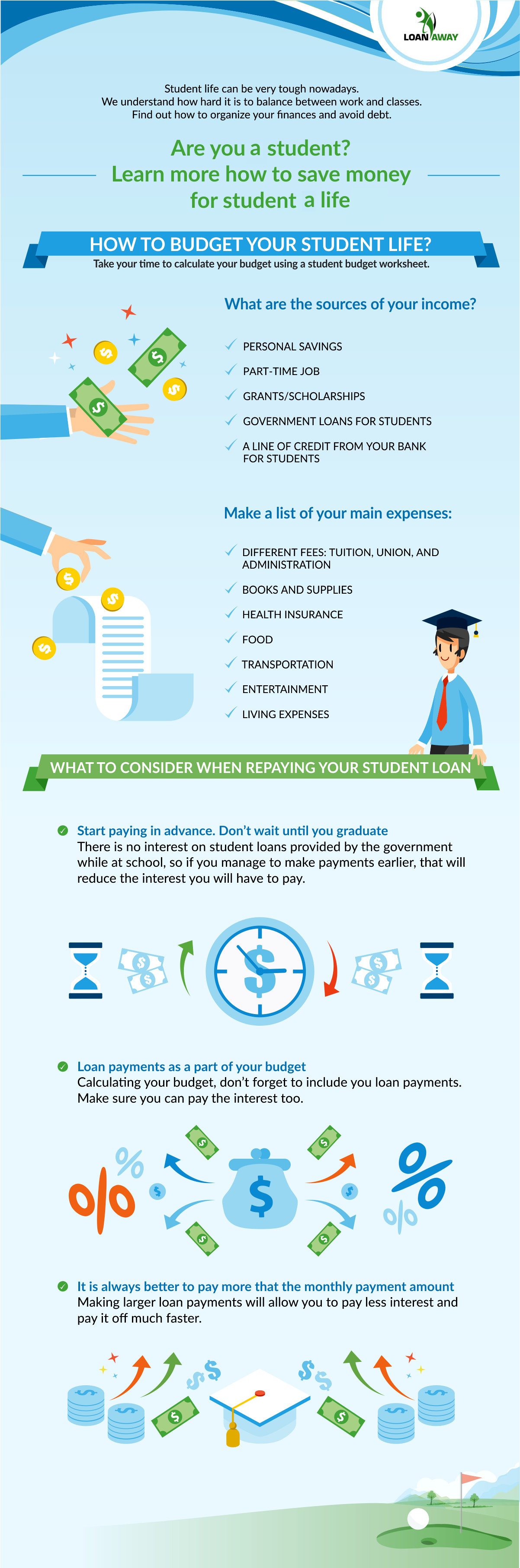 Are you a student? Learn more how to save money for a student life